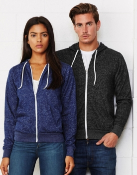 Bella + Canvas - Unisex Poly-Cotton Full Zip Hoodie