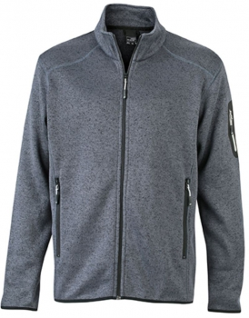 James & Nicholson - Men`s Knitted Fleece Jacket